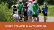 EcoAdventures 2016 Camps