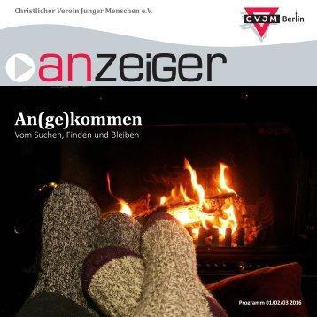 Anzeiger CVJM Berlin 01/02/03 2016