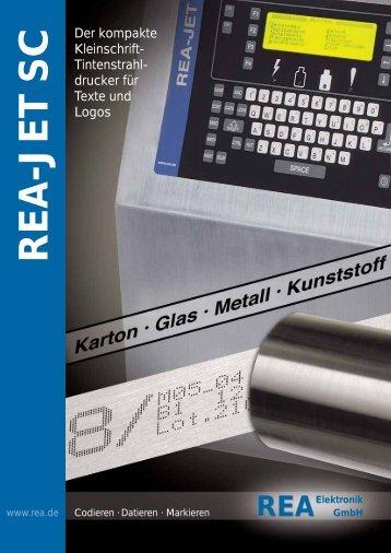 REA-JET SC - Kleinschrift-Drucker, speziell für den