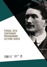 FINGAL 2016 CENTENARY PROGRAMME LECTURE SERIES
