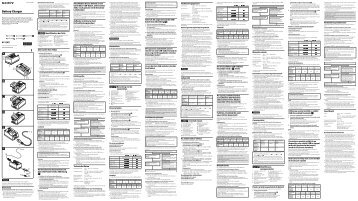 Sony BC-QM1 - BC-QM1 Mode d'emploi Tchèque