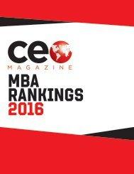 MBA RANKINGS 2016