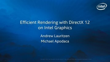 Efficient Rendering with DirectX 12 on Intel Graphics