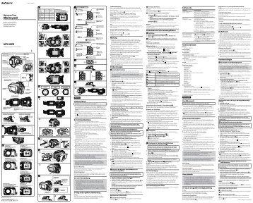 Sony MPK-WEB - MPK-WEB Consignes d'utilisation Néerlandais