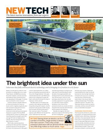 """New article about the SW62 """"Cruiser"""" in the magazine """"MOTOR BOAT & YACHTING"""" - Feb. 2016"""