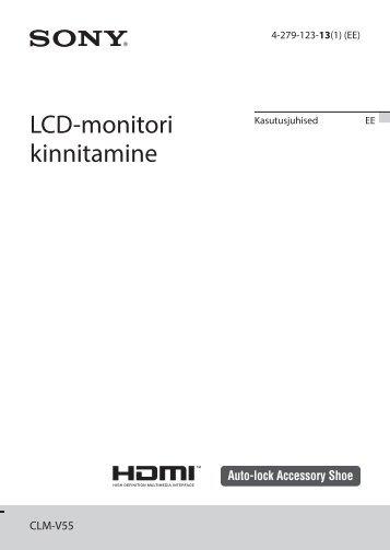 Sony CLM-V55 - CLM-V55 Consignes d'utilisation Estonien