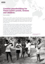 Creative peacebuilding for Timor-Leste's youth women and children