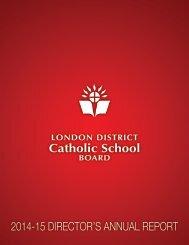Catholic School 2014-15 DIRECTOR'S ANNUAL REPORT