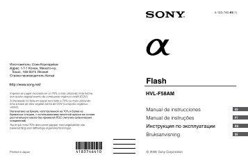 Sony HVL-F58AM - HVL-F58AM Consignes d'utilisation Suédois