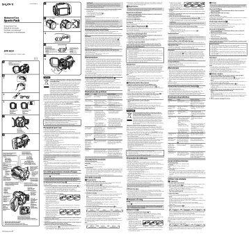 Sony SPK-HCH - SPK-HCH Mode d'emploi Russe