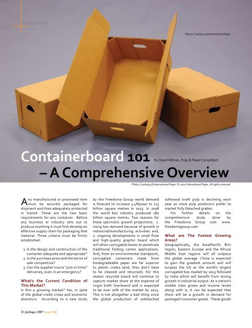 Containerboard 101 – A Comprehensive Overview