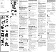 Sony VG-C1EM - VG-C1EM Mode d'emploi Polonais