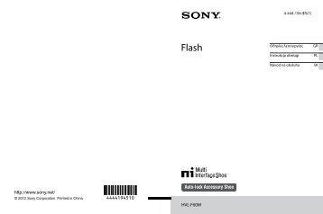 Sony HVL-F60M - HVL-F60M Consignes d'utilisation Slovaque