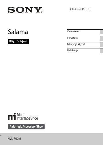 Sony HVL-F60M - HVL-F60M Consignes d'utilisation Finlandais