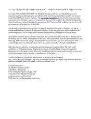 Las Vegas Chiropractor, Dr. Matthew Mortensen D. C., Helps Locals Involved With Slipped Disc Pain