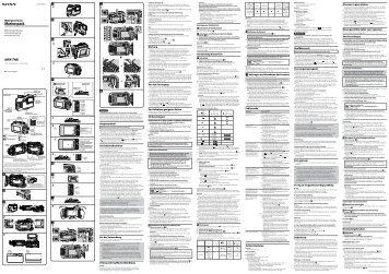 Sony MPK-THK - MPK-THK Consignes d'utilisation Néerlandais
