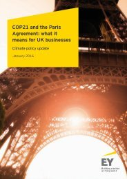 COP21 and the Paris Agreement what it means for UK businesses