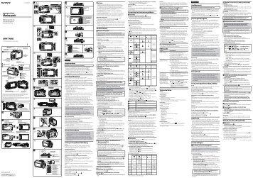 Sony MPK-THHB - MPK-THHB Consignes d'utilisation Italien