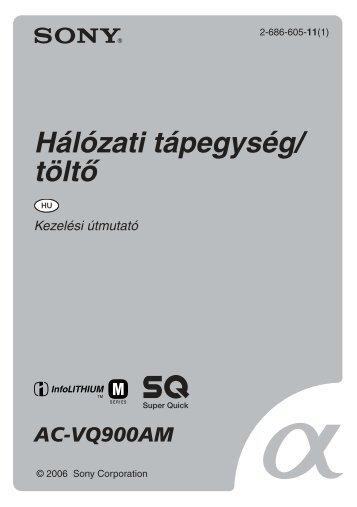 Sony AC-VQ900AM - AC-VQ900AM Consignes d'utilisation Hongrois