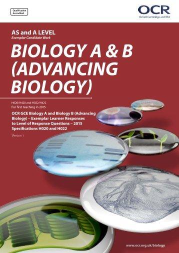 BIOLOGY A & B (ADVANCING BIOLOGY)