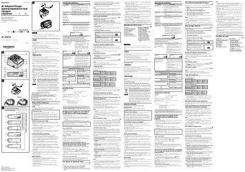 Sony AC-VQV10 - AC-VQV10 Consignes d'utilisation Espagnol