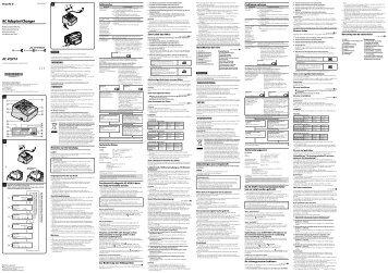 Sony AC-VQV10 - AC-VQV10 Consignes d'utilisation Suédois