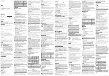 Sony HVL-F20M - HVL-F20M Consignes d'utilisation Polonais