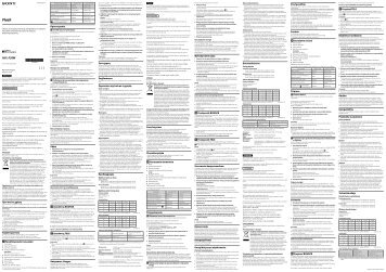 Sony HVL-F20M - HVL-F20M Consignes d'utilisation Roumain