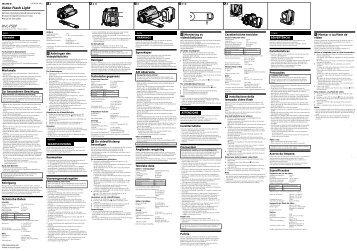 Sony HVL-F5DF - HVL-F5DF Consignes d'utilisation Portugais