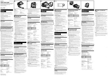Sony HVL-F5DF - HVL-F5DF Consignes d'utilisation Suédois