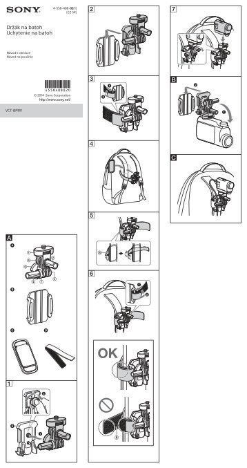 Sony VCT-BPM1 - VCT-BPM1 Consignes d'utilisation Slovaque