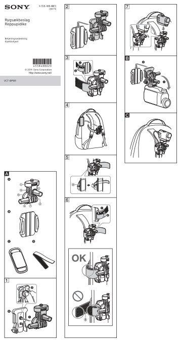 Sony VCT-BPM1 - VCT-BPM1 Consignes d'utilisation Finlandais