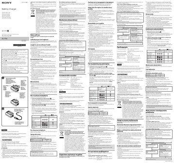Sony BC-TRW - BC-TRW Consignes d'utilisation Hongrois