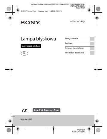 Sony HVL-F43AM - HVL-F43AM Consignes d'utilisation Polonais