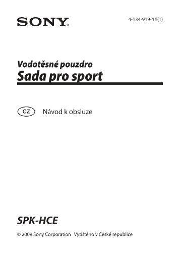 Sony SPK-HCE - SPK-HCE Consignes d'utilisation Tchèque