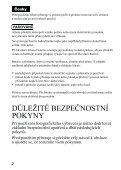 Sony HVL-F43AM - HVL-F43AM Mode d'emploi Tchèque - Page 4