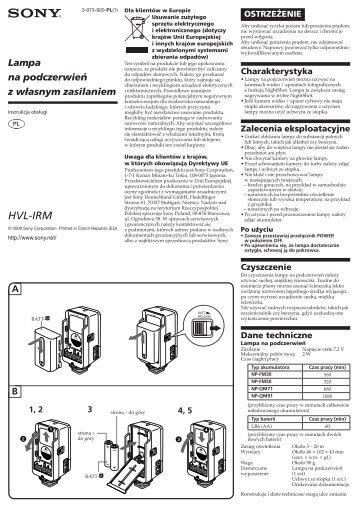 Sony HVL-IRM - HVL-IRM Mode d'emploi Polonais