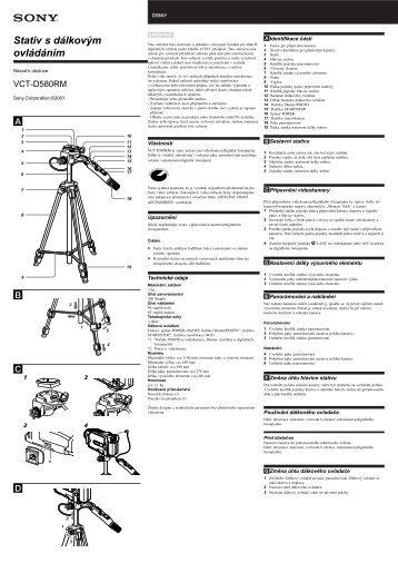 Sony VCT-D580RM - VCT-D580RM Consignes d'utilisation Tchèque