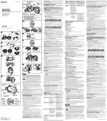 Sony SPK-CXB - SPK-CXB Consignes d'utilisation Allemand