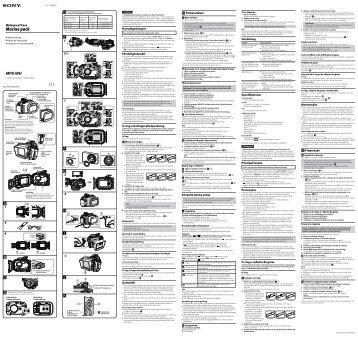 Sony MPK-WH - MPK-WH Consignes d'utilisation Russe