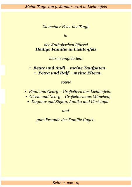 Bilderbuch Zur Taufe Von Raphael