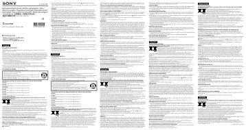 Sony NP-FV50 - NP-FV50 Consignes d'utilisation Français