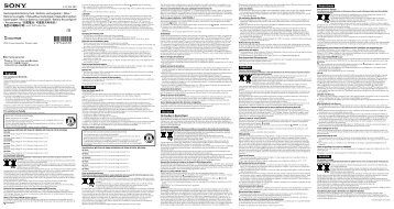 Sony NP-FV50 - NP-FV50 Consignes d'utilisation