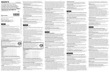 Sony ACC-FP71 - ACC-FP71 Consignes d'utilisation