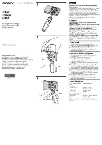 Sony ACC-CTBN - ACC-CTBN Consignes d'utilisation Letton
