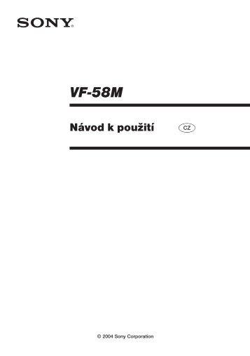 Sony VF-58M - VF-58M Consignes d'utilisation Tchèque