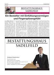 Bestattungshaus Sadelfeld | Bürgerspiegel