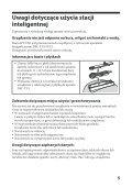 Sony IPT-DS1 - IPT-DS1 Mode d'emploi Polonais - Page 5