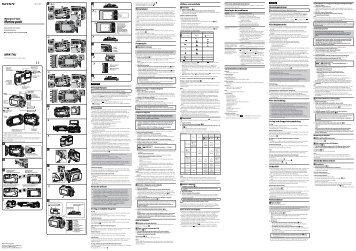 Sony MPK-THJ - MPK-THJ Consignes d'utilisation Russe