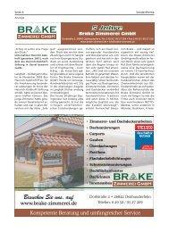 Brake Zimmerei | Bürgerspiegel
